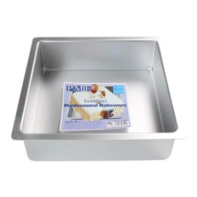 PME Backform, eckige Torten, quadratisch backen, Aluminium