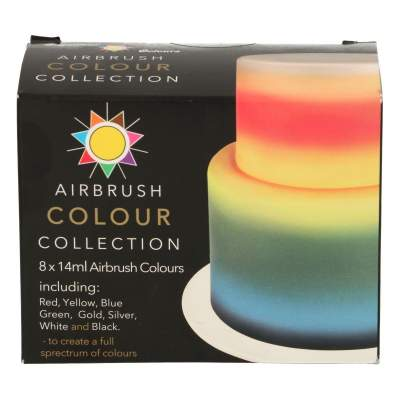 Sugarflair Airbrush Farben Multipack 8x14ml
